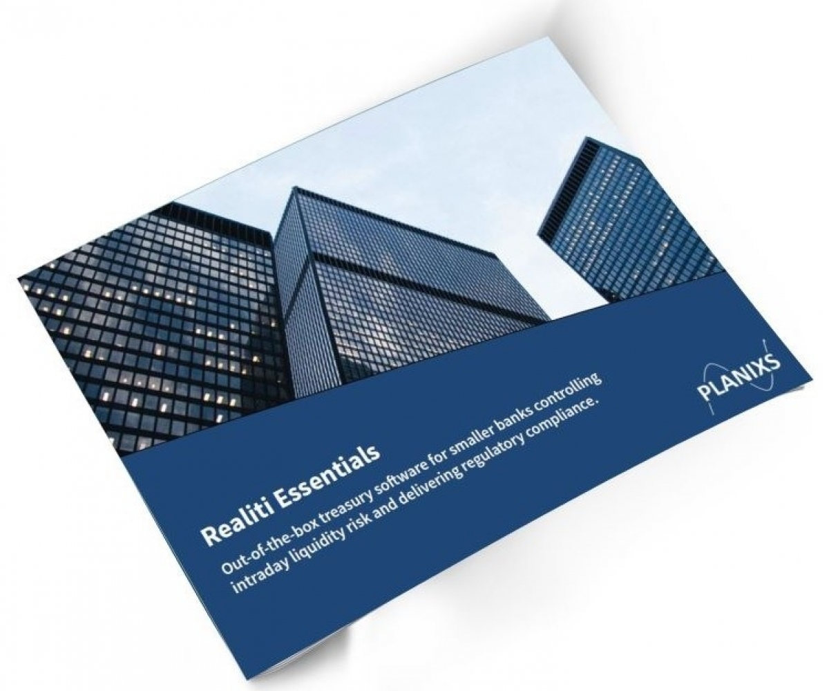 Treasury software for smaller banks brochure cover